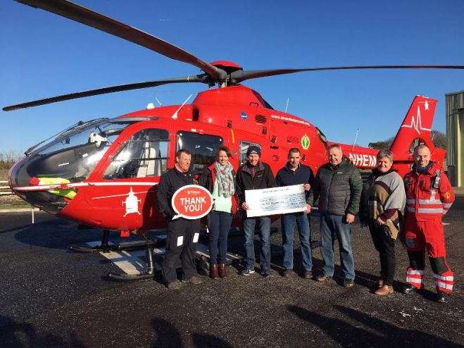 Moira Model Club present cheque to Air Ambulance NI.